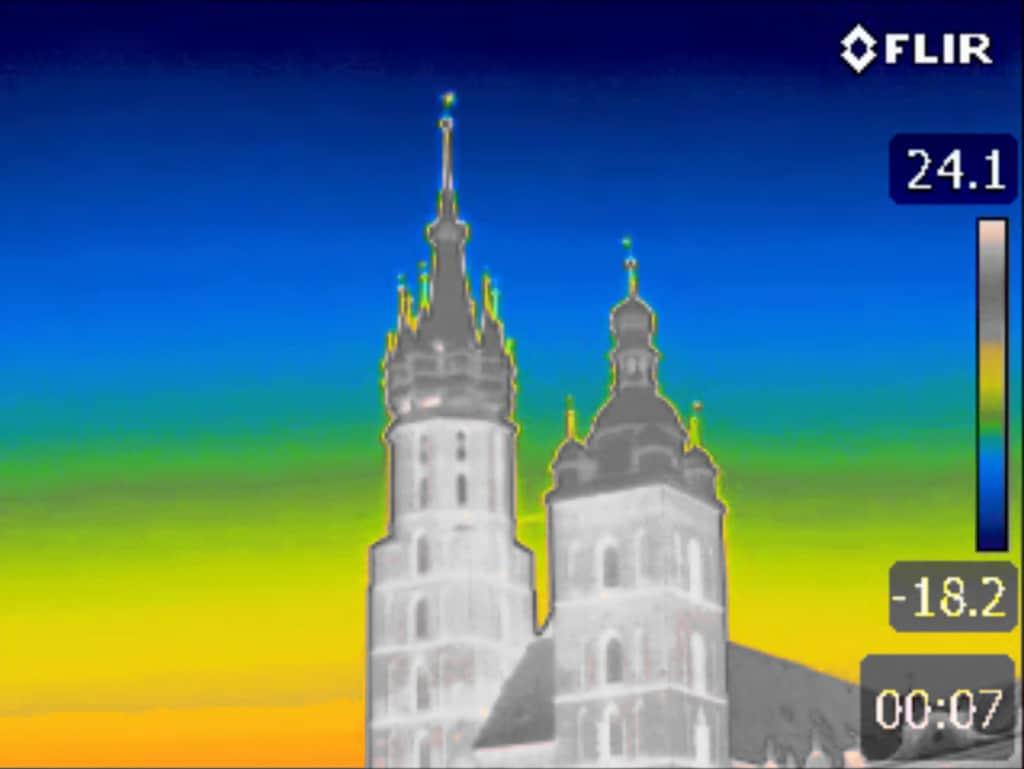 Kamera Termowizyjna Wynajem - Przegląd Wschodniej strony Rynku Głównego w Krakowie