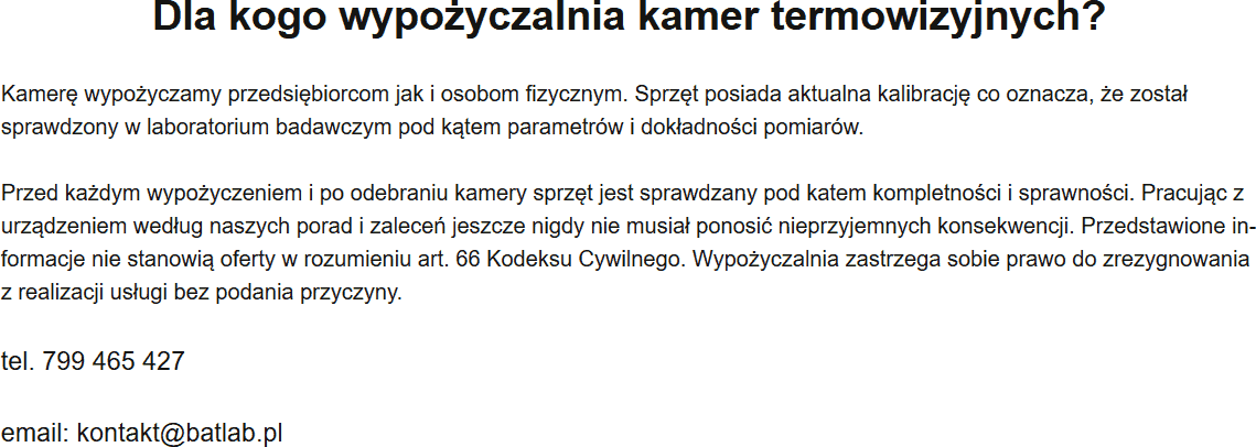 Kamera Termowizyjna Wypożyczalnia Katowice