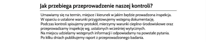 Badanie żle działające kolektory Połaniec