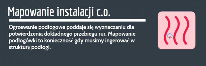 lokalizacja wycieku wody Zembrzyce