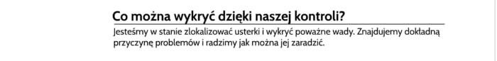 Lokalizacja wycieku z rur Poznań