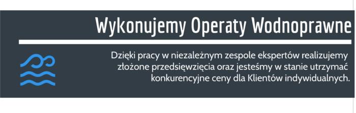 Operat wodnoprawny Łódź