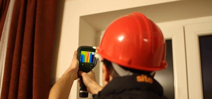 pomiary kamerą termowizyjną Ogrodzieniec