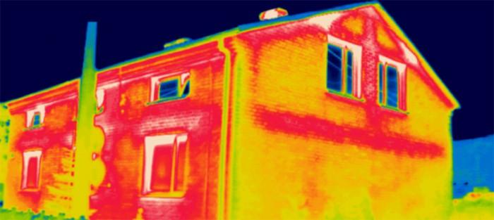 Pomiary termowizyjne budynku Kalety