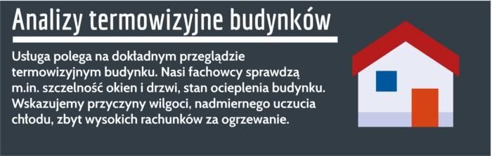 Pomiary termowizyjne budynku Poznań
