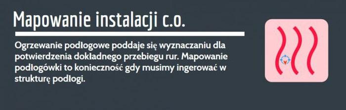 Wyciek z podłogówki lokalizacja Łódź