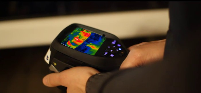 Zdjęcia z kamery termowizyjnej Tychy