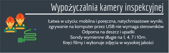 kamera do sprawdzania rur Łódź